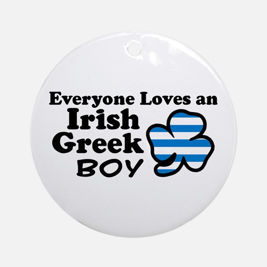 Irish Greek Boy Ornament (Round)