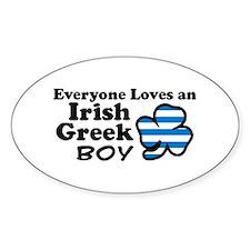 Irish Greek Boy Oval Decal