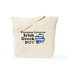 Irish Greek Boy Tote Bag