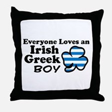 Irish Greek Boy Throw Pillow