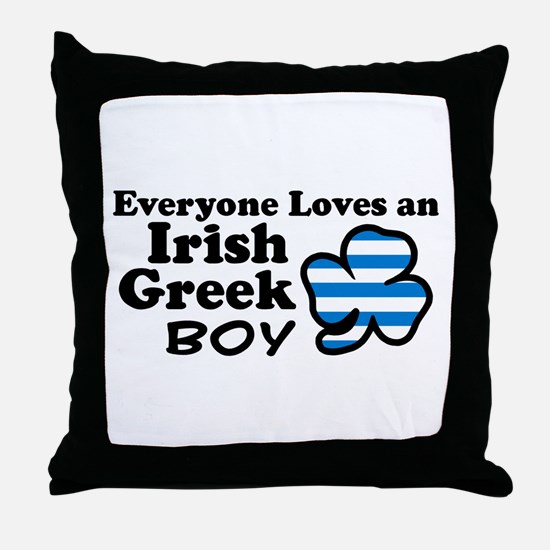 Irish Greek Boy Throw Pillow