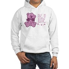 Pink Marble Teddy Due In June Hoodie