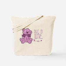 Pink Marble Teddy Due In June Tote Bag