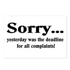 complaints Postcards (Package of 8)