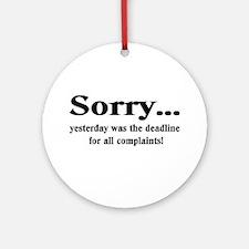 complaints Ornament (Round)