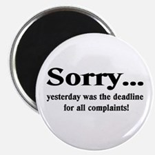 "complaints 2.25"" Magnet (100 pack)"