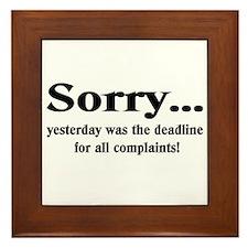 complaints Framed Tile