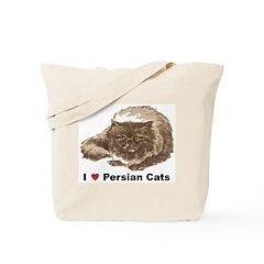 I Love Persian Cats Tote Bag
