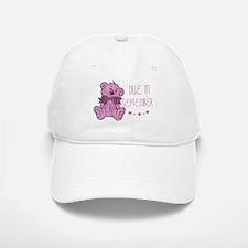 Pink Marble Teddy Due September Baseball Baseball Cap