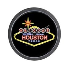 Welcome to Houston, Texas Wall Clock