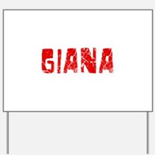 Giana Faded (Red) Yard Sign