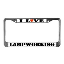 Lampworking License Plate Frame