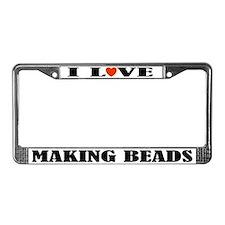 I Love Beads License Plate Frame