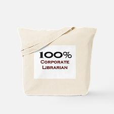 100 Percent Corporate Librarian Tote Bag