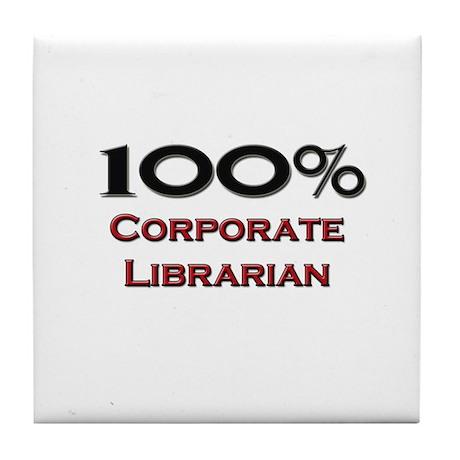 100 Percent Corporate Librarian Tile Coaster