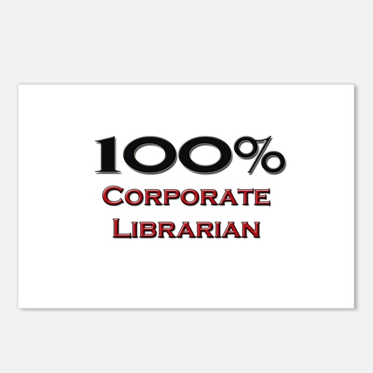 100 Percent Corporate Librarian Postcards (Package