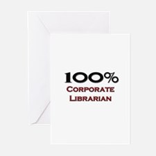 100 Percent Corporate Librarian Greeting Cards (Pk