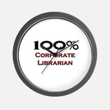 100 Percent Corporate Librarian Wall Clock