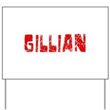 Gillian Faded (Red) Yard Sign
