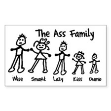 The Ass Family! Rectangle Decal