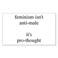 Feminism Isn't Anti-Male Rectangle Decal