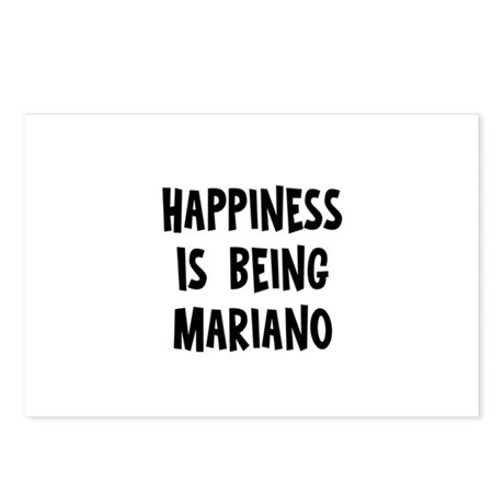 Happiness is being Mariano Postcards (Package of 8