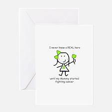Lime Ribbon - Hero Greeting Card