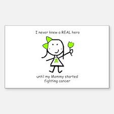 Lime Ribbon - Hero Rectangle Sticker 10 pk)