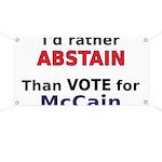 McCain - Abstain Banner