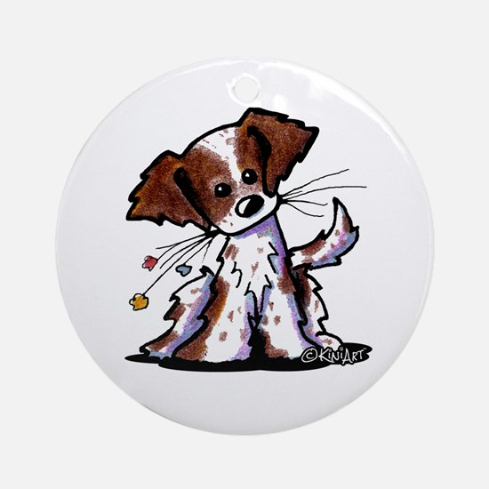 Tiny Liver Brittany Ornament (Round)