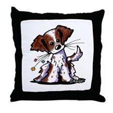 Tiny Liver Brittany Throw Pillow