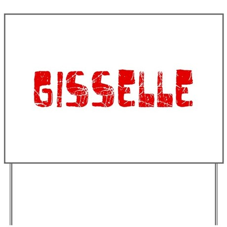 Gisselle Faded (Red) Yard Sign