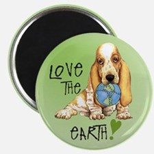 Earth Day Basset Magnet