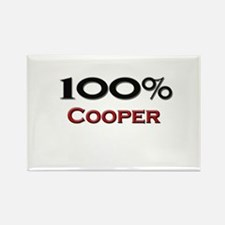 100 Percent Cooper Rectangle Magnet