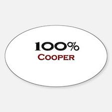100 Percent Cooper Oval Decal