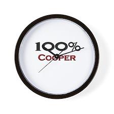 100 Percent Cooper Wall Clock