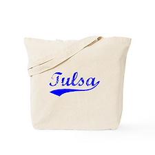 Vintage Tulsa (Blue) Tote Bag