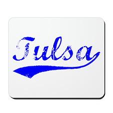 Vintage Tulsa (Blue) Mousepad