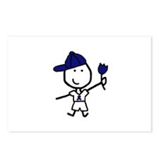 Boy & Blue Ribbon Postcards (Package of 8)
