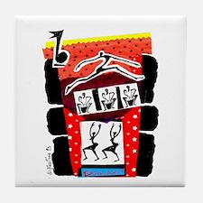 Dancers & Drummers Tile Coaster