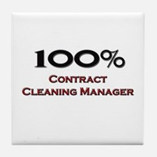 100 Percent Contract Cleaning Manager Tile Coaster