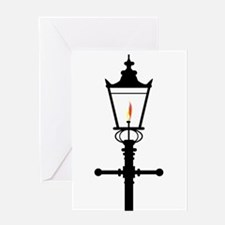 Victorian Isolated Gaslight Greeting Cards