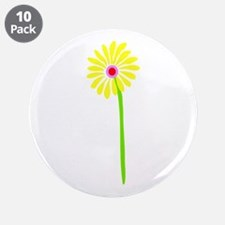 """Spring Flower 3.5"""" Button (10 pack)"""