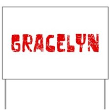 Gracelyn Faded (Red) Yard Sign