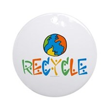 Recycling Ornament (Round)