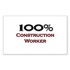 100 Percent Construction Worker Decal