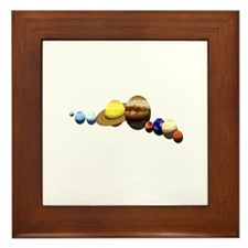 Planets Framed Tile