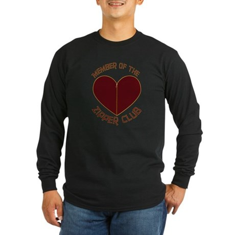 Zipper Club Long Sleeve Dark T-Shirt