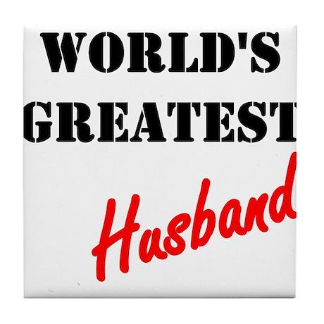 World's Greatest Husband Tile Coaster