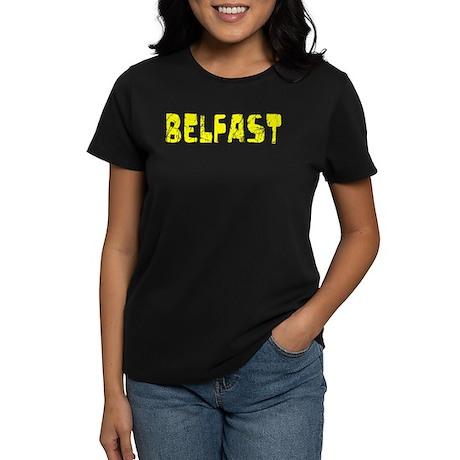 Belfast Faded (Gold) Women's Dark T-Shirt